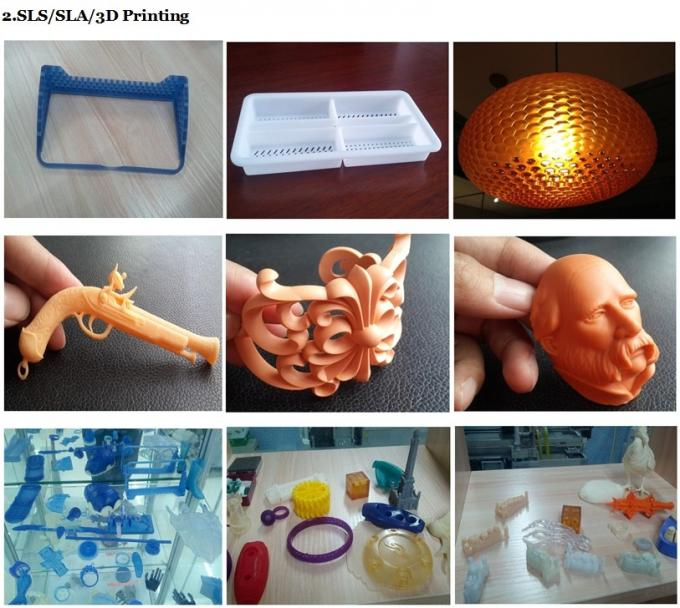 White Plastic High Quality 3d Printing Service SLA Rapid Prototyping